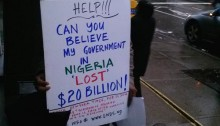 Dr Brimah protests ate New York Embassy, Feb 22, 2014