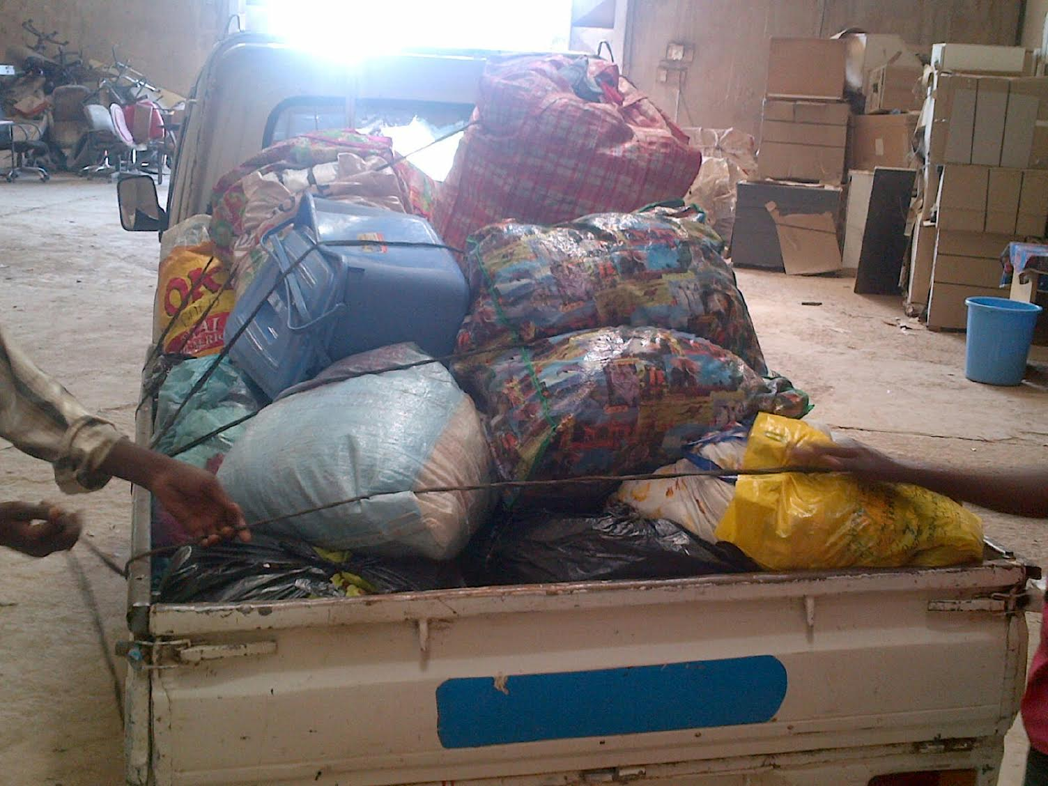 Truck load of clothes we got from our Kano Drive- Thanks Mama Hauwa, Freedom Fm, Baba Aliko