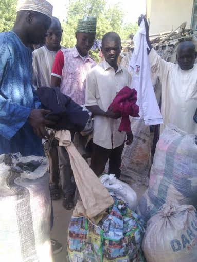 November 2015 donations in Borno camps